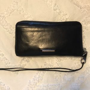 Black leather Rebecca Minkoff wallet